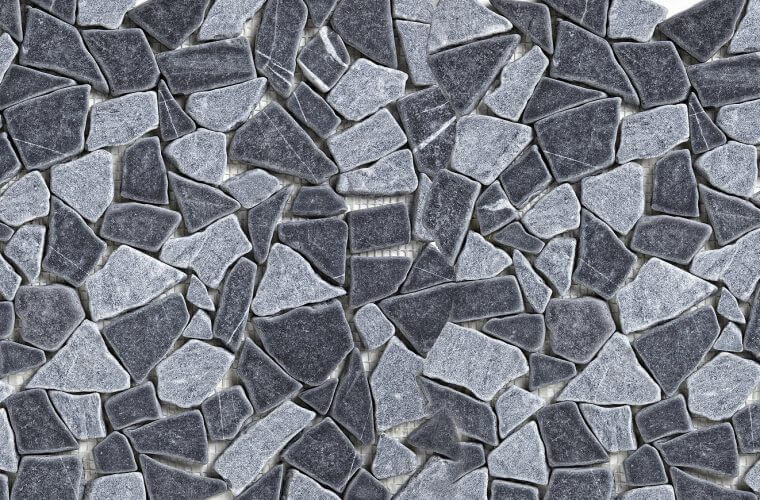 Black & Grey Mix 300x300 mm Mosaic | Aitokivi