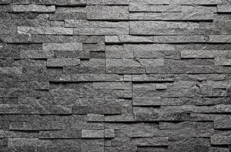 Black Quartzite 150x600mm Stone cladding panels | Aitokivi