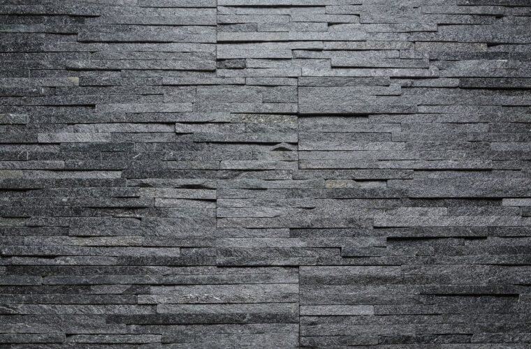 Black Quartzite Water Wall 150x600mm Beklädnadssten | Aitokivi