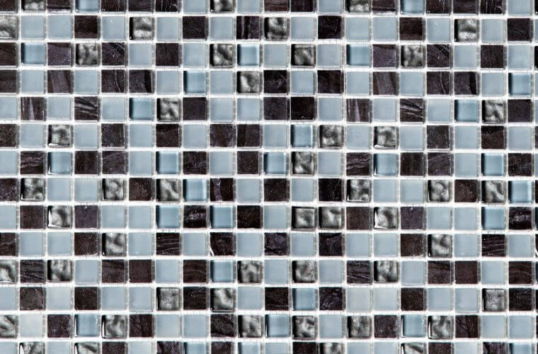 Crystal Black 300x300 mm Mosaic | Aitokivi