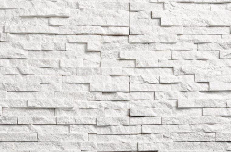 White Quartzite 150x600mm Stone cladding panels | Aitokivi